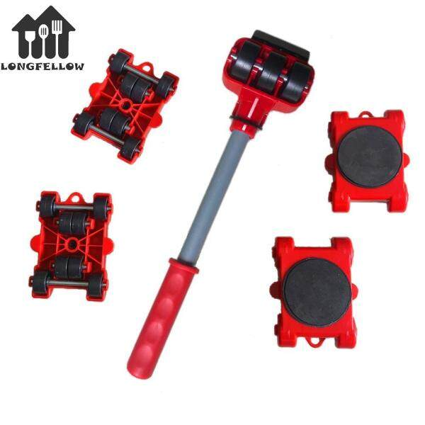 5Pcs Home Trolley Lift Metal Technology Move Slide Mover Transport Set for Heavy Furniture Moving