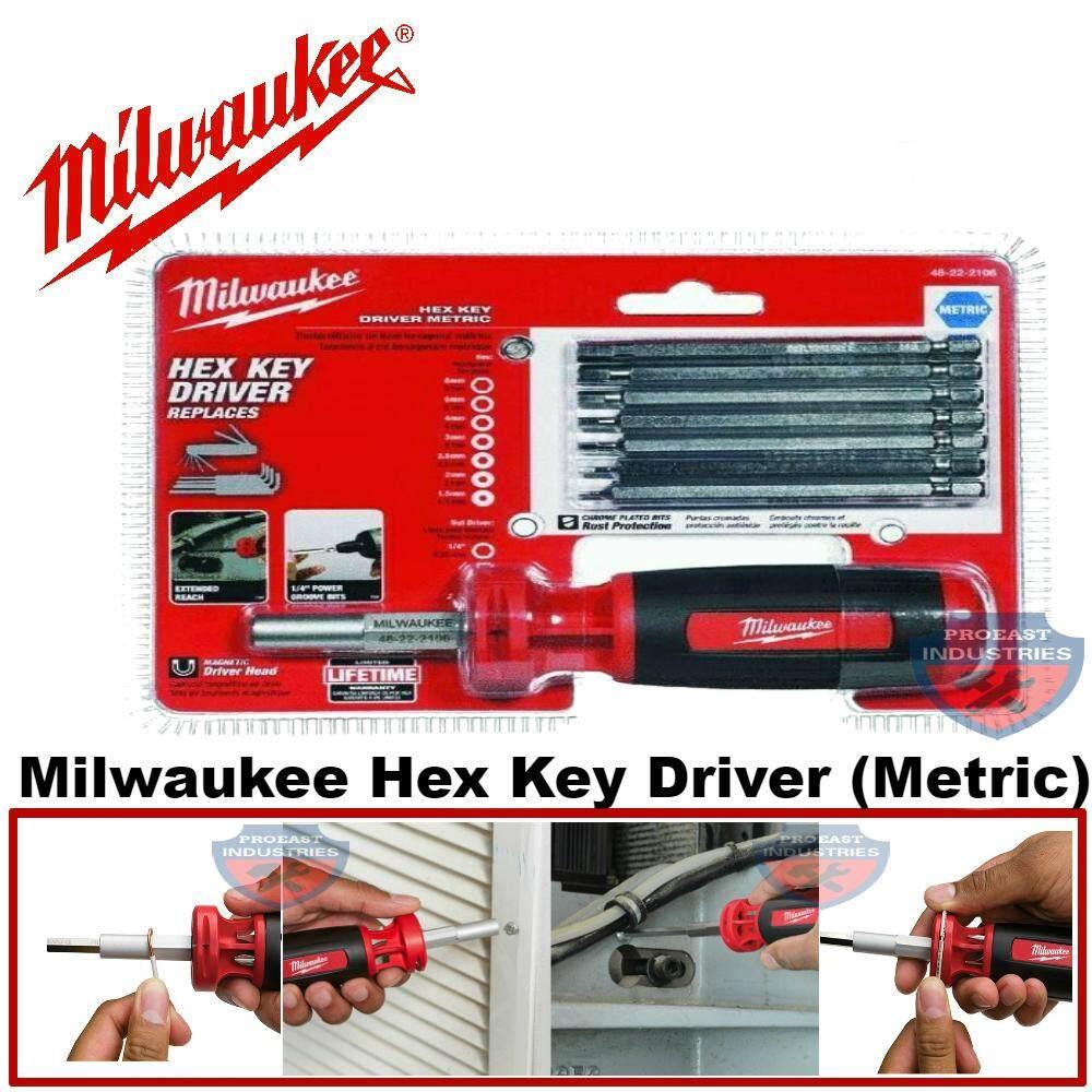 Milwaukee hex key driver metric set 48-22-2016