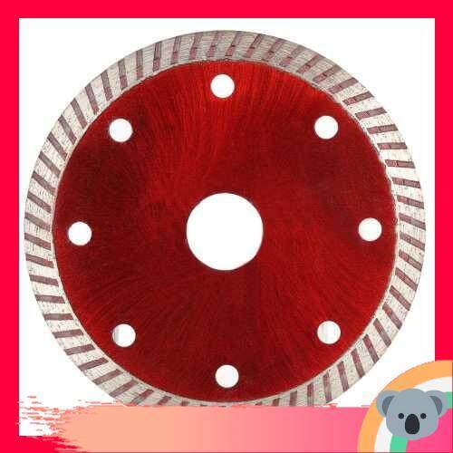 105*1.0*20mm Diamond Cutting Disc Saw Blade Continuous Turbo Diamond Blade with 8 Cooling Holes 20mm Inner Diameter Ceramic Incising For Angle Grinder Architectural Engineering Architect