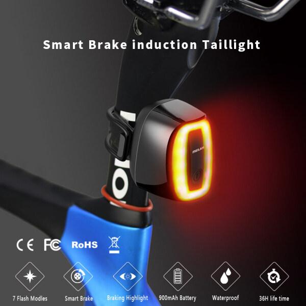 Đèn Đuôi Xe Đạp USB Led Đèn Hậu Cảnh Báo An Toàn Không Dây X6 Phía Sau