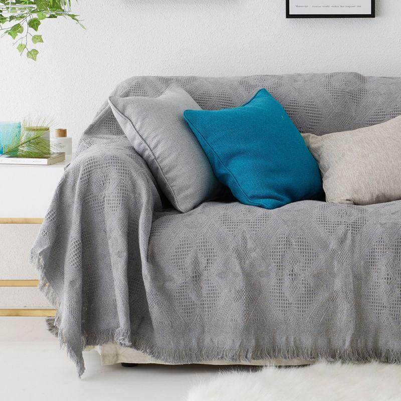 Large Size 100% Cotton Woven Sofa Bed Throw Blanket Bedspread By Streamflowing.