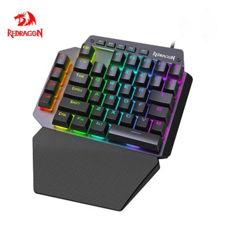 Redragon K583 One Handed RGB Backlit Mechanical Gaming Keyboard 44 Key Gamepad IDA with Programmable Keys Macro Recording Blue Switches Detachable Palm Rest & USB-C, USB Passthrough for Windows PC Singapore