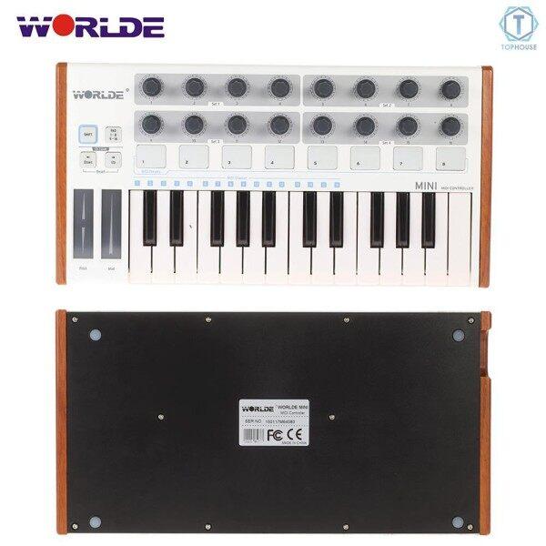 ∮ Worlde Ultra-Portable Mini Professional 25-Key USB MIDI Drum Pad and Keyboard Controller Malaysia
