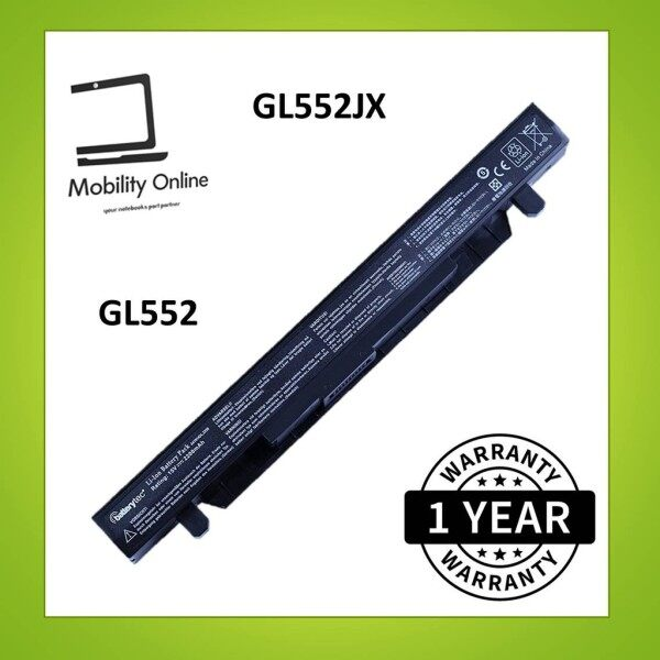 Asus GL552V ZX50 ZX50J ZX50JX A41N1424 GL552 GL552J GL552VX GL552JX GL552VW Notebook Laptop Battery Malaysia