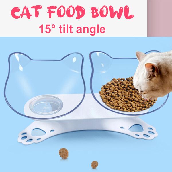 Thức Ăn Cho Mèo Trong Suốt Bằng Nhựa Góc Nghiêng 15 ° Hai L Dễ Dàng Vệ Sinh