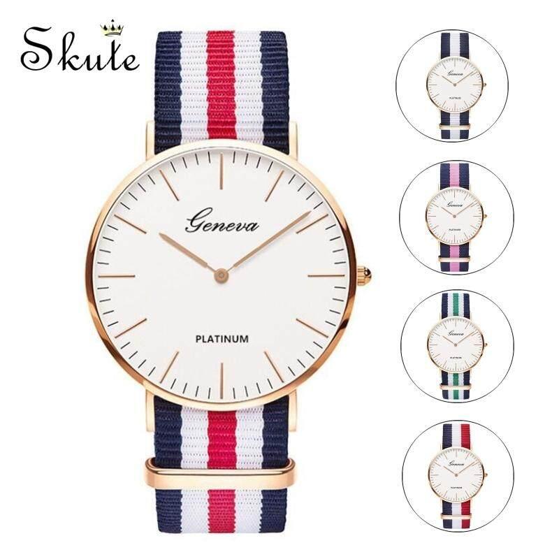 ❤SKute Simple Striped Watch Women Fashion Watch Sweden Couple Gentlemen Lady Classic Wristwatch Malaysia