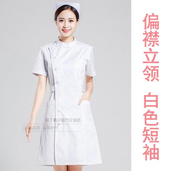 Nurses Uniform Short Sleeve White Gown Doctors Overall Long Sleeve Dental Oral Beauty Salon Beautician Pharmacy Overalls