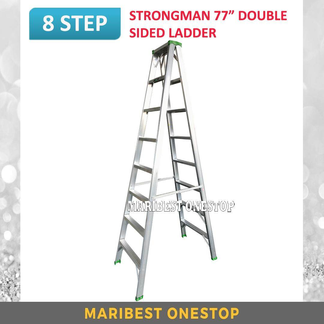 "STRONGMAN DS8 77"" Aluminium Double Sided 8 Steps Ladder"