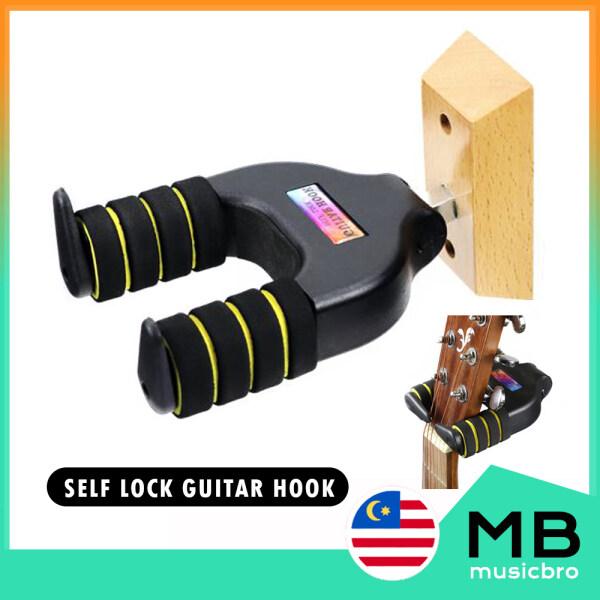 Guitar Wall Hanger Guitar Wall Hook Self Lock Hook Wooden Wall Mount Guitar Hanger Holder Keeper Hanging Bracket Malaysia
