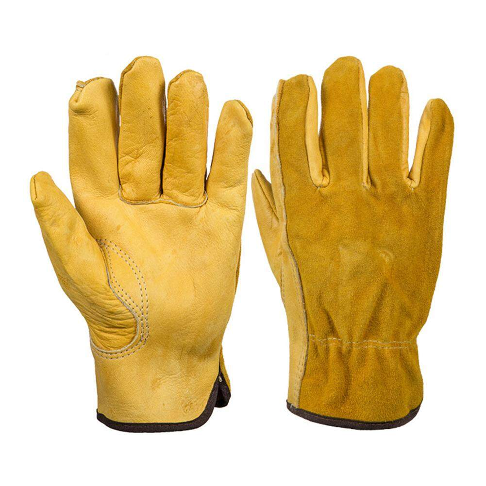 [JYA][CASH ON DELIVERY]【Freeshipping for 3 items】 Leather Gloves Working Protection Gloves Security Garden Labor Gloves