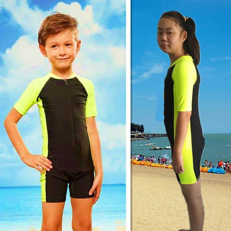 e7ea2399f0 Kids Swimwear Summer Boys Swimsuit Girl Swimming Children Sport Sunproof  Beachwear Baby Bathing Suit