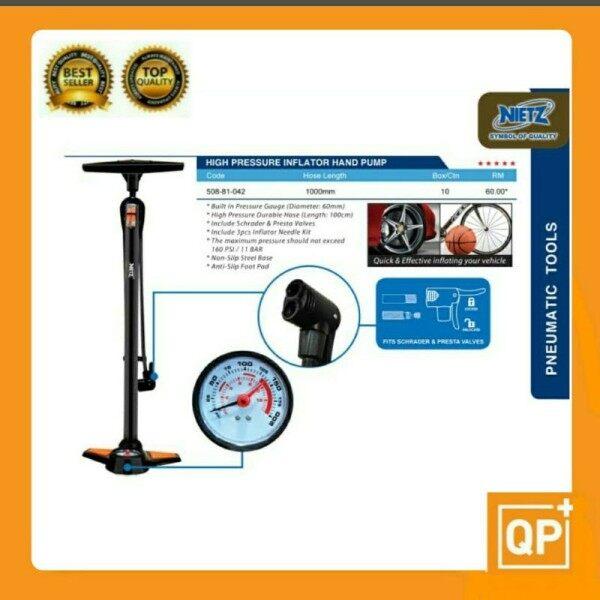 High Pressure Inflator Hand Pump/Bike Bicycle Motor Ball Hand Pump/Pam Angin (Made in Taiwan)