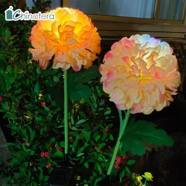 [Chinatera] Đèn LED Năng Lượng Mặt Trời Đèn Cỏ Hoa Cúc Đổi Màu Đèn Cảnh Quan Sân Vườn Ngoài Trời Chống Nước Đèn Ban Đêm