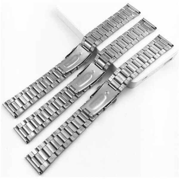 12/14/16/18/20/22mm Stainless Steel Watchband Women Wrist Bracelet Men Silver Metal Watch Strap with Folding Clasp Watches Strap Malaysia