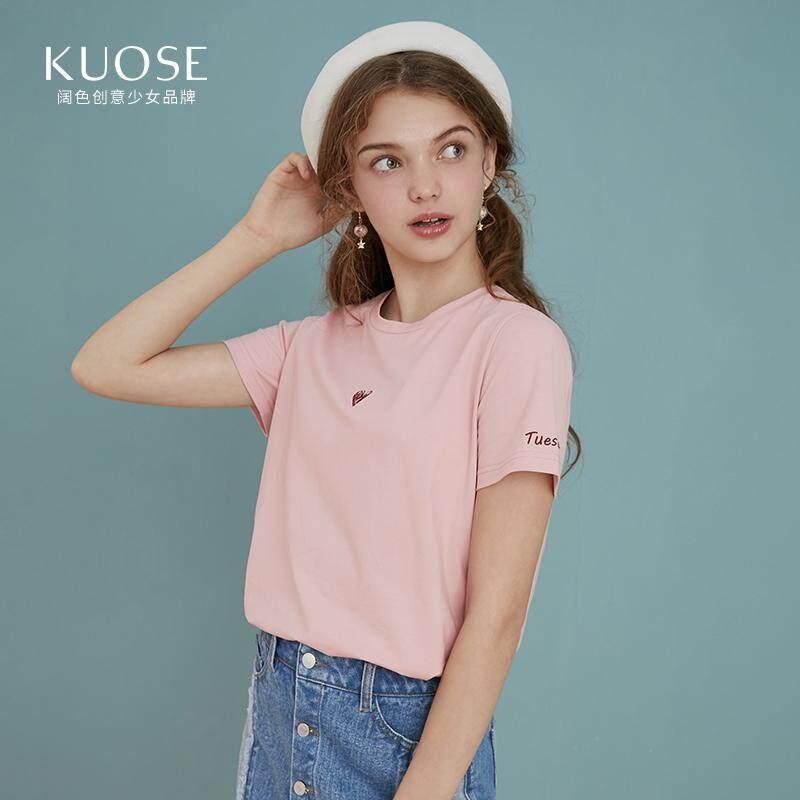 3a682ec71636c6 KUOSE Women Summer Short Sleeve Street Style Tees Tops Girl Funny Heart Print  T-Shirt