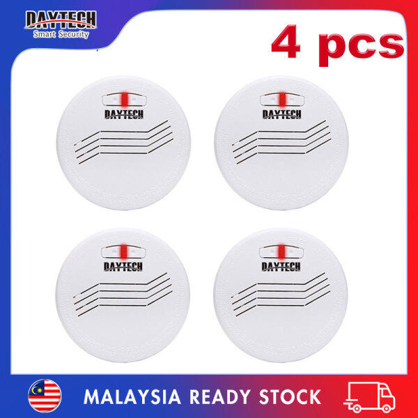 [Malaysia Ready Stock]Daytech Smoke Detector 10 Years Battery Standalone Photoelectric Smoke Fire Alarm Security System For Home/Factory/Restaurant/Hotel 4PCS Pack SM07