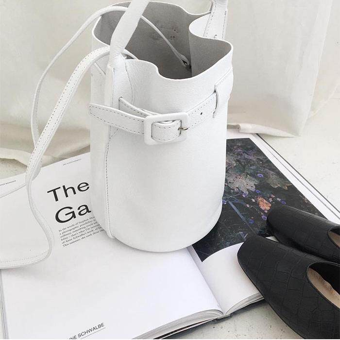 IELGY New Korean Candy Color Handmade Bucket Bag Shoulder Diagonal Tote Bag