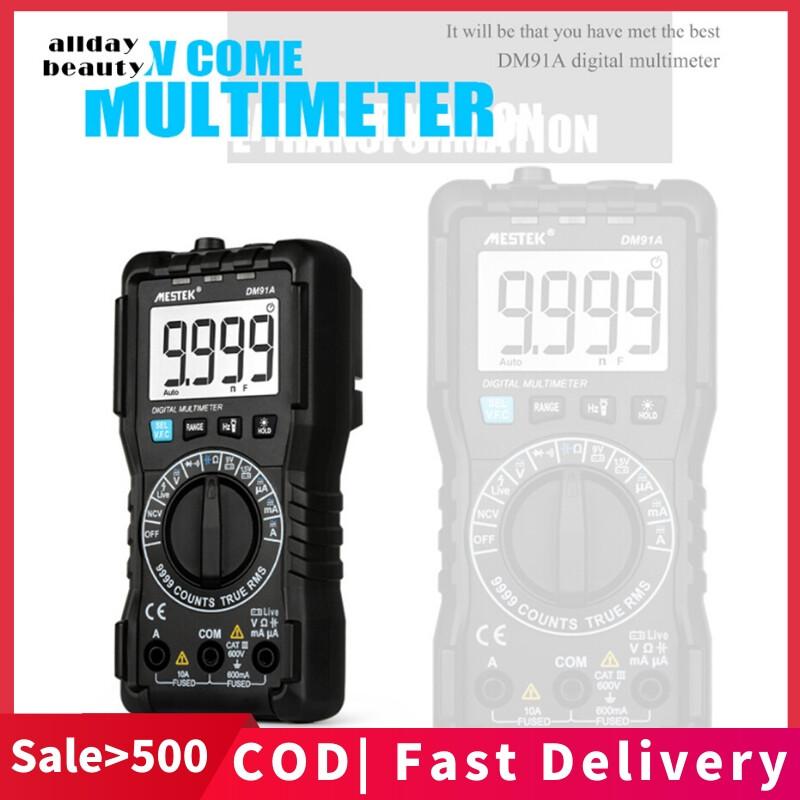 Tất Cả Số 【Cod】 Mini Vạn Năng Kỹ Thuật Số Tính Công Cụ Test 9999 Tính Đa Đo Tự Động Ngắt Điện AC Trực Tiếp Hiện Tại DM91A