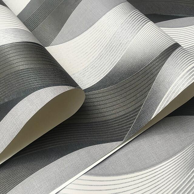 Metallic Gold Texture Wallpaper Roll Geometric Stripes Pattern Modern Fashion Vinyl Wall Paper Living Room
