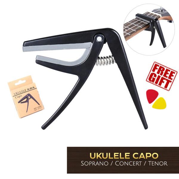 Ukulele Capo 4 Strings Hawaii Guitar Capos Single-handed Quick Change Ukulele Capo Soprano ukulele Concert ukulele Free picks Malaysia