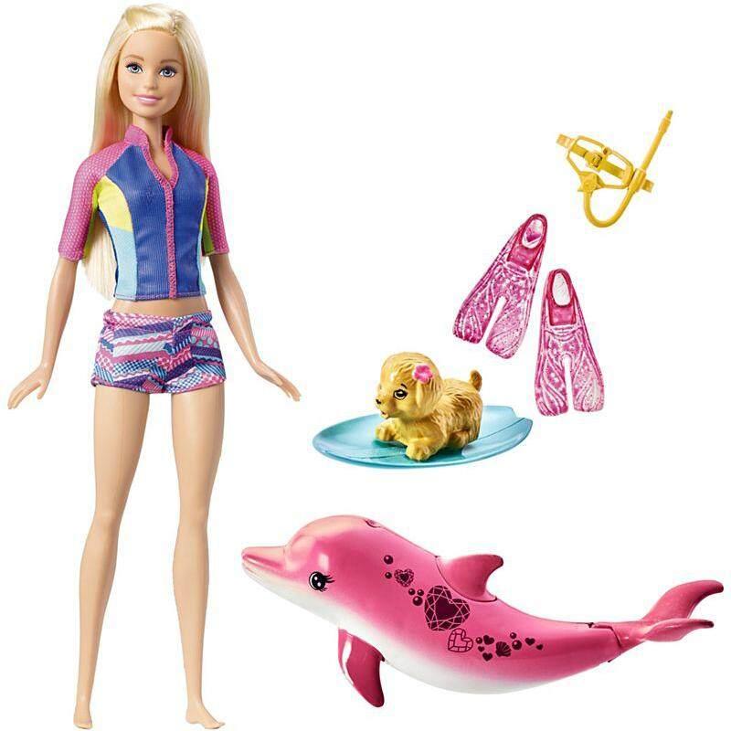 Barbie Doll Set. Dolphin Magic Adventures Doll Girl Princess Play House Toys Gift