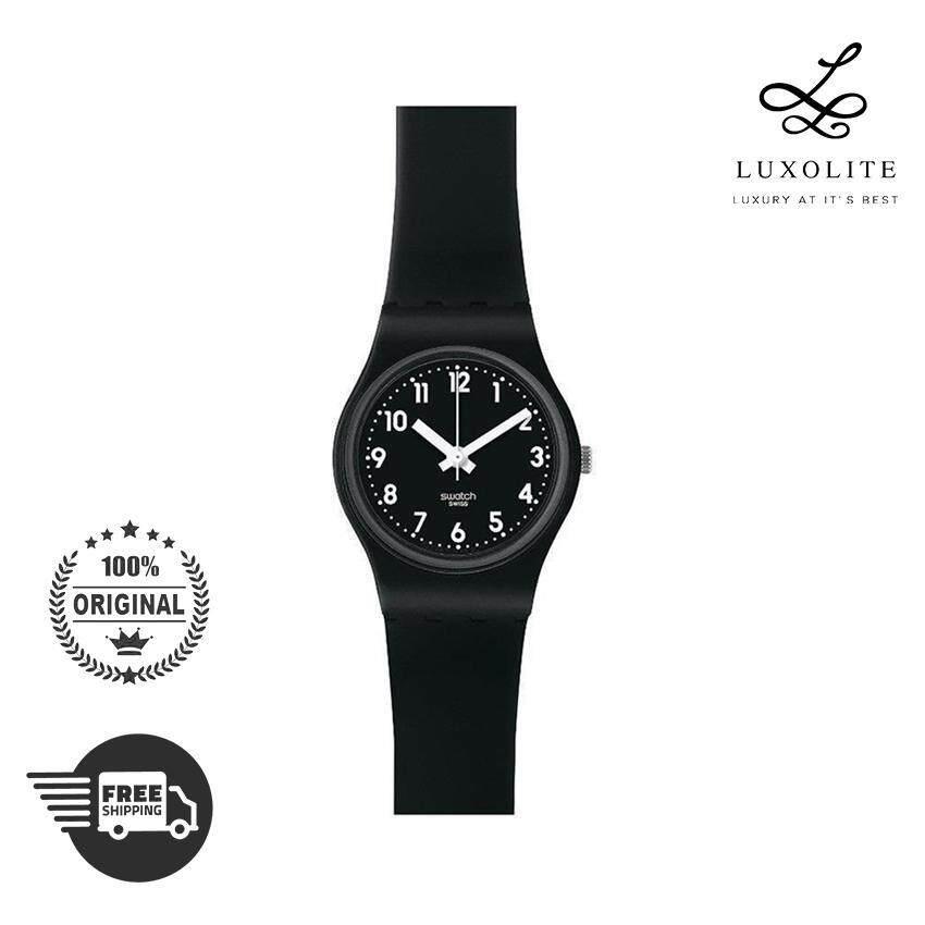Swatch Quartz B170E Black Plastic Women Fashion Ladies Watch ca632e7334