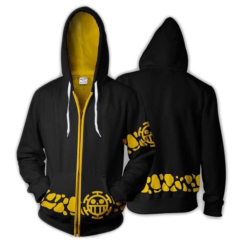 30beab3d2 3D One Piece Trafalgar D Water Law Print Men's Fashion Jackets Hoodie  Sweatshirt