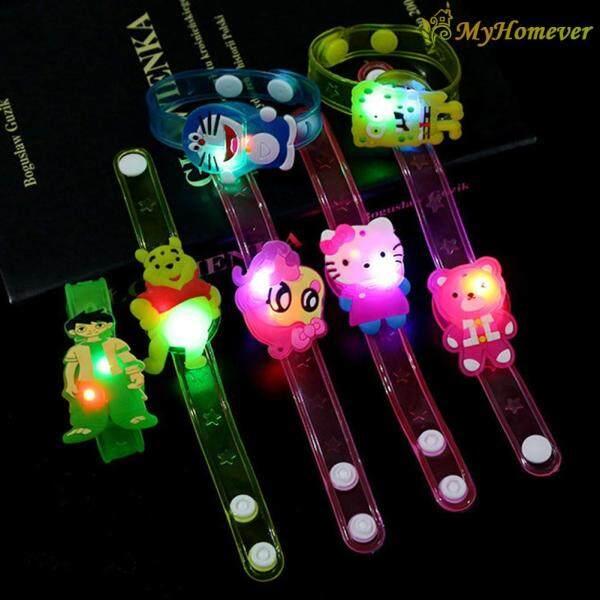 Cute Kids Flash Wrist Band Cartoon Night Light Watch Glowing Bracelet Toys Malaysia