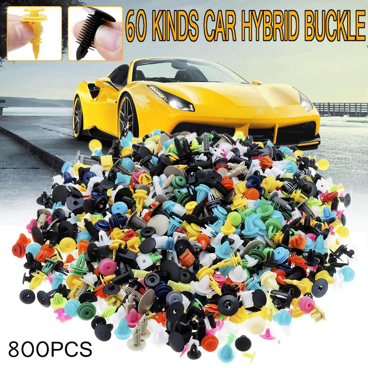 【free Shipping + Flash Deal】800pcs 60 Kinds Push Pin Mixed Door Trim Panel Clip Fastener By Teamwin.
