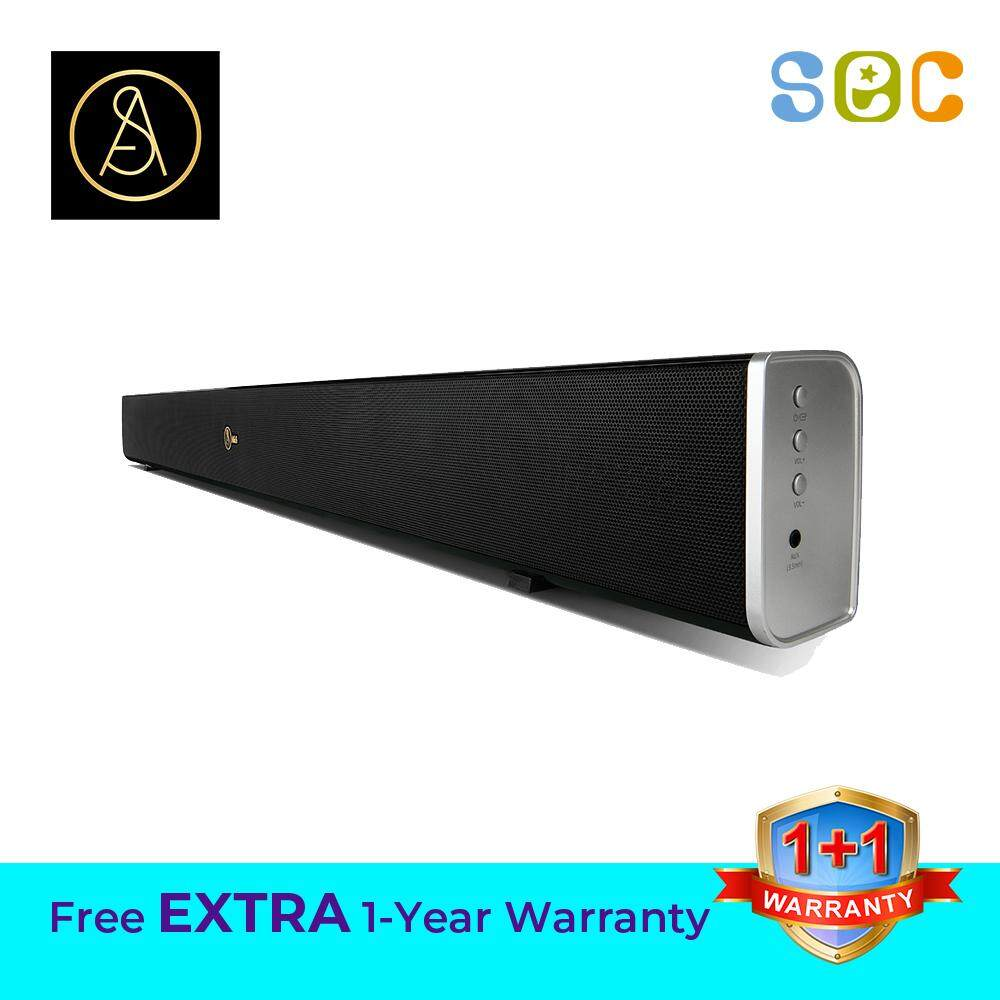 A&S 2.1 BAR WITH BUILT-IN SUBWOOFER 200 WITH REMOTE CONTROL , BAR 200