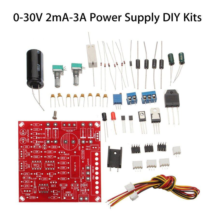 OSMAN 0-30V Adjustable DC Power Short-circuit Current Limit Protection DIY Kit