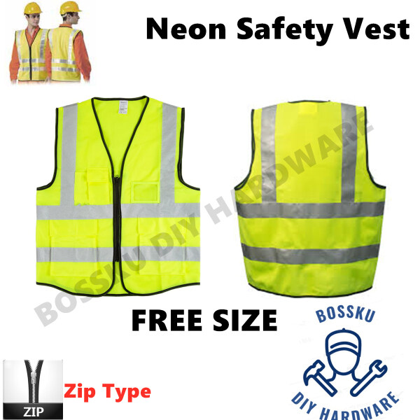 Safety Vest Reflective Zip Type High Quality