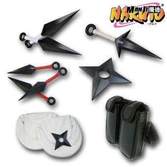 การ์ตูนนารูโตะมีดสั้นอาวุธนินจามีดพก cos อุปกรณ์นารูโตะซาสึเกะอาวุธเซตแบบจำลองกระเป๋าคาดเอวกระเป๋าที่แขวนขากระเป๋านินจา-