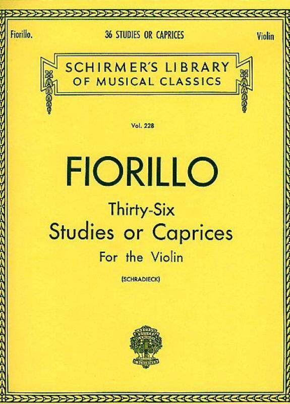 36 Studies or Caprices Schirmer Library of Classics Volume 228 Violin Method Malaysia