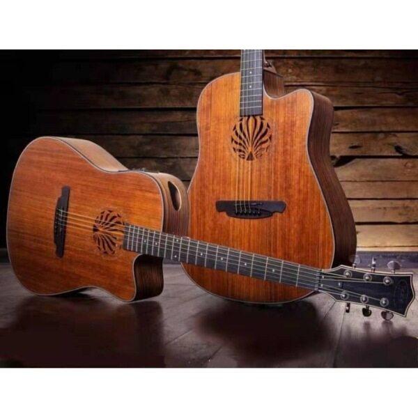 Sqoe SQ-N 41 inch Walnut acoustic guitar with fishman EQ # Yamaha F310 Gibson Fender Ibanez Epiphone Takamine Taylor Malaysia