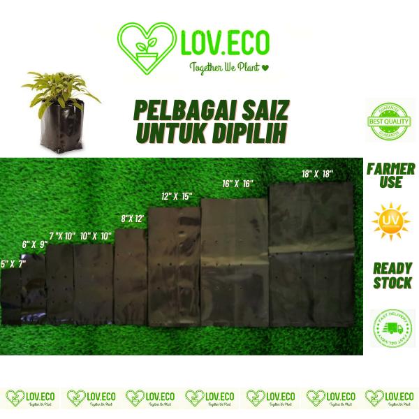 LOVECO 1Pc UV Protection Poly Bag Polybag Thick Soil Seed Seeds Tanah Hitam Biji Benih Polibeg Tebal