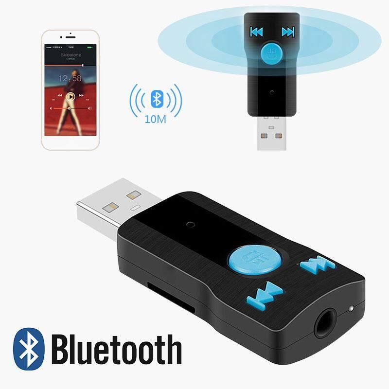 Xe di động USB Nhận Kết Nối Bluetooth 3.0 + EDR 3.5mm USB Thẻ TF Cổng Âm Nhạc Giải Trí Điện Thoại Stereo Máy Tính Bảng Tai Nghe Chụp Tai USB Nhận Kết Nối Bluetooth Đầu Thu Bluetooth