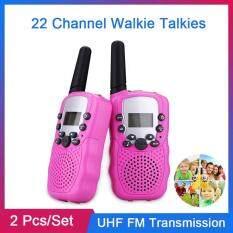 2 Chiếc Tiện Dụng Đồ Chơi Trẻ Em 22 Kênh Bộ Đàm 2 Chiều Radio UHF Tầm Xa Cầm Tay Thu Phát Trẻ Em Quà Tặng