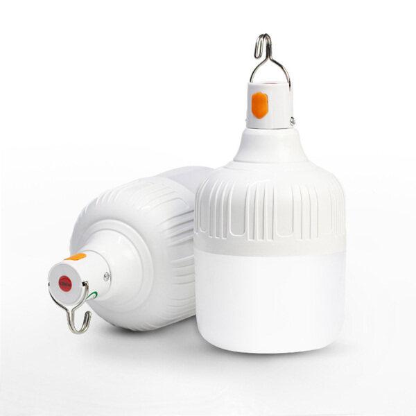 Đèn LED Có Thể Sạc Lại Tuổi Thọ Siêu Sáng Cúp Điện Di Động Chợ Đêm Đèn Chiếu Sáng Ngoài Trời Bóng Đèn Khẩn Cấp