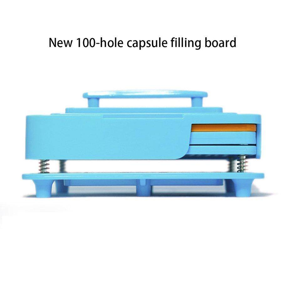 Hot Deals Capsule Filler Plate 100 Hole Size 0 Capsule Plate Capsule Filling Manual Bulk Filling Capsule Filling Device Powder