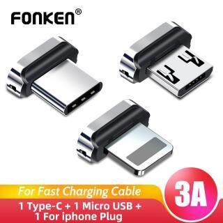 Đầu Chuyển Đổi Cáp Từ FONKEN, Dành Cho iPhone + Micro USB + Đầu Nối Sạc Type-C Phích Cắm Chống Bụi thumbnail