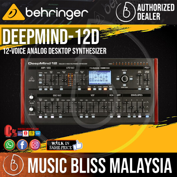 Behringer DeepMind 12D 12-voice Analog Desktop Synthesizer (DeepMind12D / DeepMind-12D) *Everyday Low Prices Promotion* Malaysia