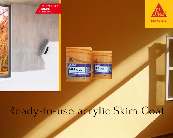 SikaWall®-603 Acrylic (5kgs) Ready-to-use Acrylic Skim Coat