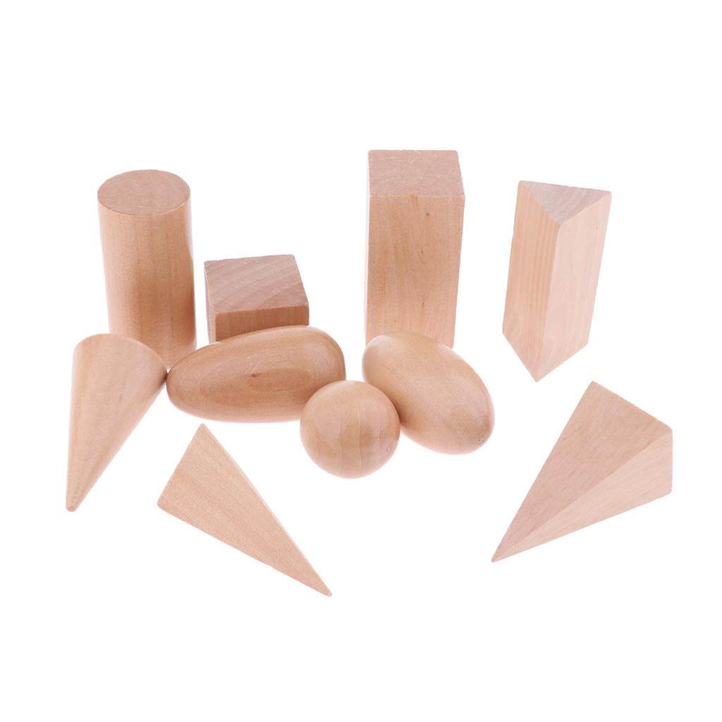 Perfk Kids Shape Wooden Blocks Montessori Game Toys with Mystery Bag