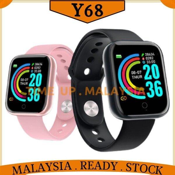 [ READY MALAYSIA FAST DELIVERY ] Y68 Smart Watch Fitness Tracker Digital Heart Rate WATCH WOMeN /MEN SMARTWATCH Malaysia