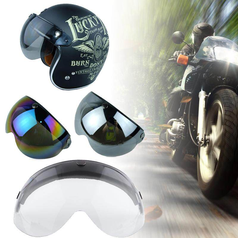Clear Pilot-Style Motorcycles Helmet 3-Snap Face Visor lens Wind Shield Sunshade