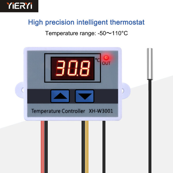 New XH-W3001 Digital Temperature Controller - 50-110℃ adjustable cool heat Thermostat Control Switch with Probe 220V