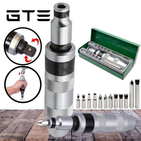 GTE 13pcs Impact Screwdriver Set Wrench Pulse Screwdriver Kit Impact Drill Handle Heavy Duty Handle (YG-0052) - Fulfilled by GTE SHOP