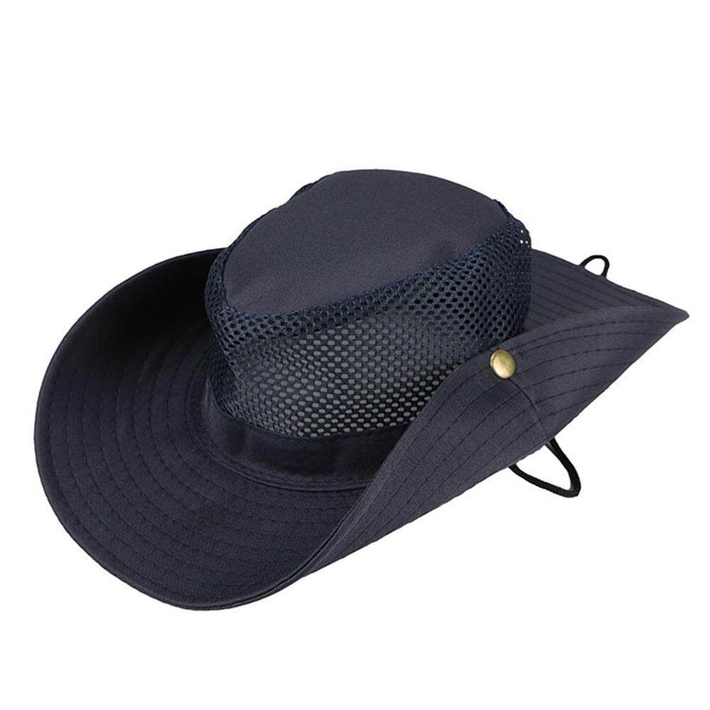 e58e785a Fancytoy Wide Brim Sun Hat Summer Mesh Bucket Cap UV Protection for Camping  Fishing