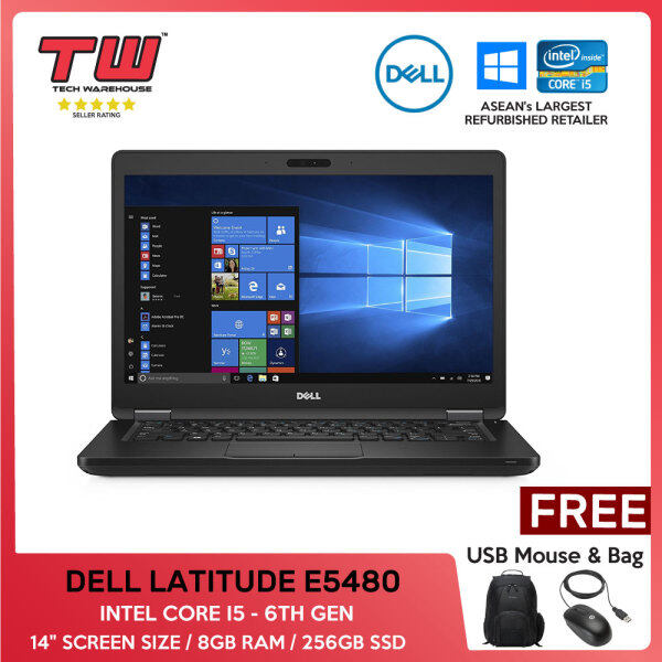 DELL LATITUDE E5480 / INTEL CORE I5 6TH GEN / LAPTOP / 14 / 8GBRAM / 256GB SSD Malaysia